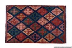 Tappeto Kilim 04V3 fatto a mano, 128x185 cm