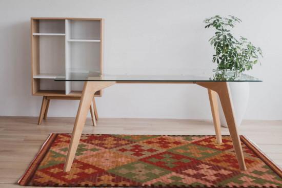 Tappeto Kilim 04v5 fatto a mano, 95x155 cm