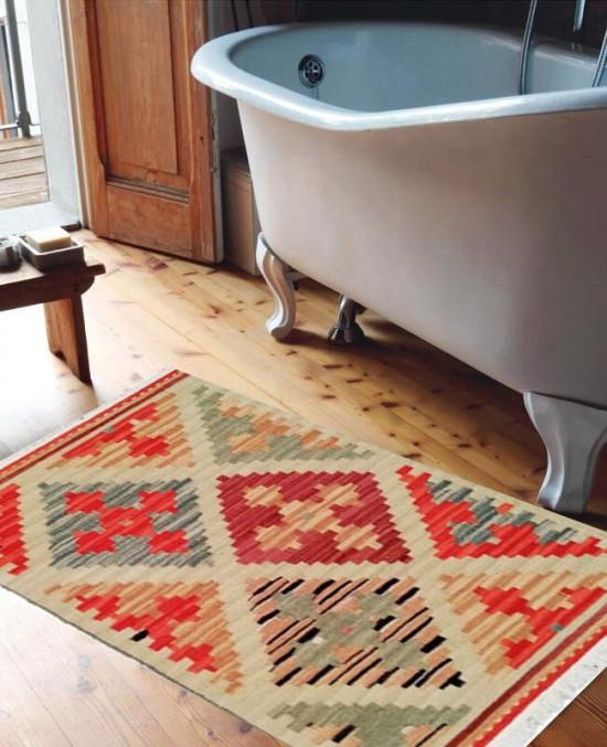 Tappeto Kilim per bagno 04V7 65x110 cm