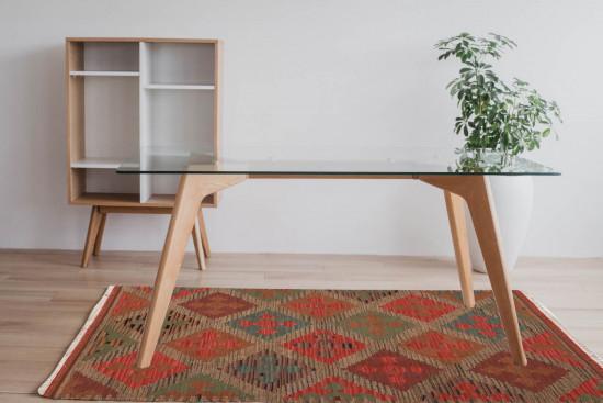 Tappeto Kilim Rettangolare 04V7 misura 95x155 cm