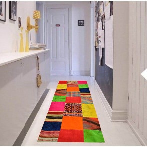 Tappeto Kilim Afgano Patchwork 10060 - Dimensioni 198x65 cm