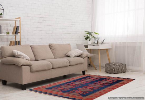 Tappeto Kilim Rettangolare 11-7 misura 128x185 cm