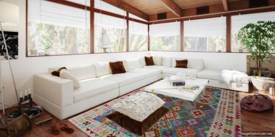 Tappeto Kilim Afgano 1143 misura 244x176 cm