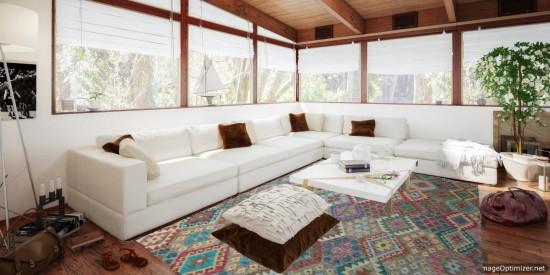 Tappeto Kilim Afgano 1148 misura 242x194 cm