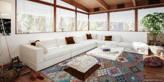 Tappeto Kilim Afgano 1151 misura 243x170 cm