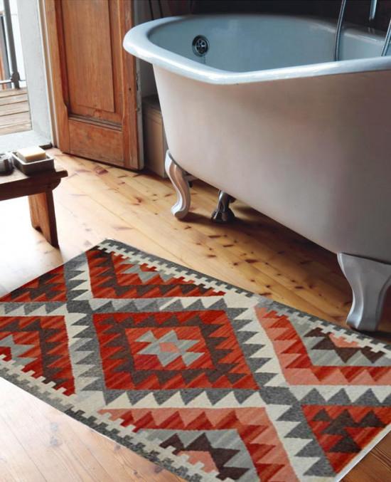 Tappeto Kilim: ideale per bagno - Dimensioni 65x110 cm