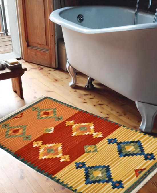 Tappeto Kilim per bagno 15-2 65x110 cm