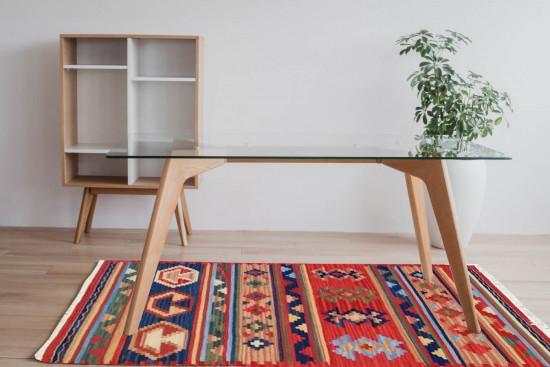 Tappeto Kilim 15-13 fatto a mano, 95x155 cm