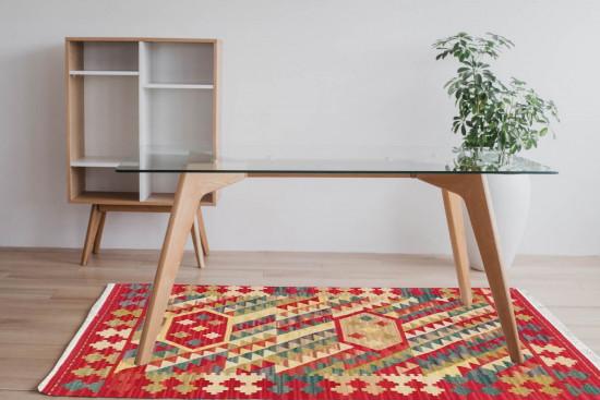 Tappeto Kilim Rettangolare 15-17 misura 95x155 cm