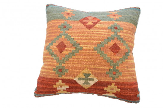 Cuscino Kilim stile afgano - Dimensioni 45x45 cm