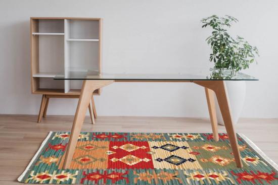Tappeto Kilim 15-2 fatto a mano 95x155 cm