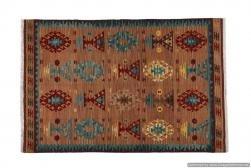 Tappeto Kilim 15-4 fatto a mano, 128x185 cm