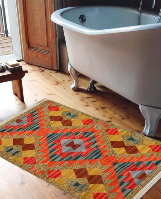 Tappeto Kilim 15-41 per bagno 65x110 cm