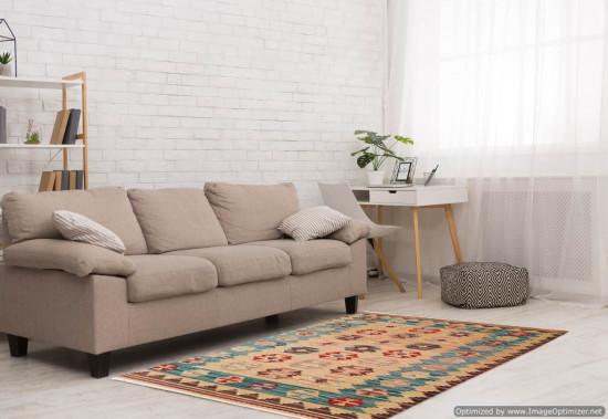 Tappeto Kilim 15-7 fatto a mano, 128x185 cm