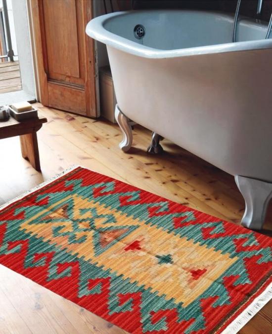 Tappeto Kilim 15-8 per bagno 65x110 cm