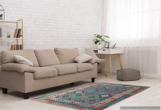 Tappeto Kilim Afgano 151 misura 245x176 cm
