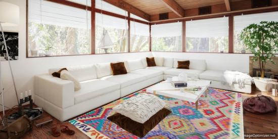 Tappeto Kilim Afgano 1530 misura 192x157 cm