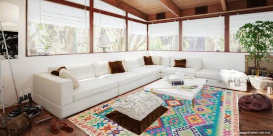 Tappeto Kilim Afgano 1535 misura 198x159 cm