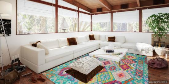 Tappeto Kilim Afgano 1536 misura 197x154 cm