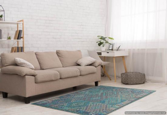 Tappeto Kilim Afgano 153 misura 242x189 cm