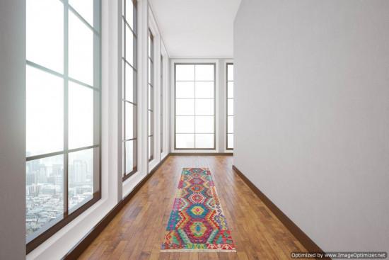 Passatoia Kilim Afgana 1599 misura 74x245 cm