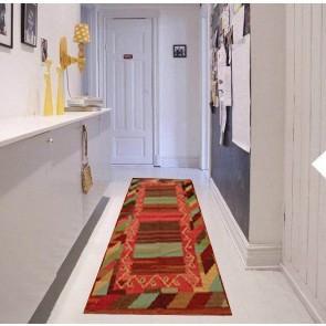 Tappeto Kilim 3-COL per passatoia - Ideale per Cucina e Corridoio