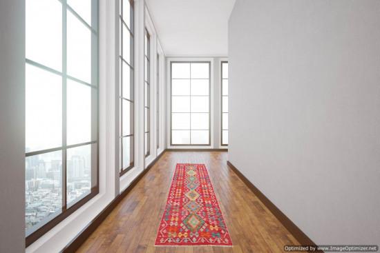 Passatoia Kilim Afgana 1602 misura 74x240 cm