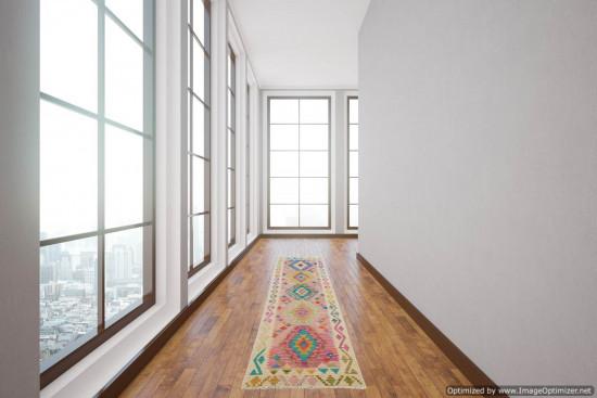 Passatoia Kilim Afgana 1607 misura 72x287 cm