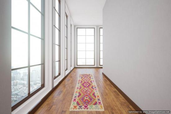 Passatoia Kilim Afgana 1609 misura 73x300 cm