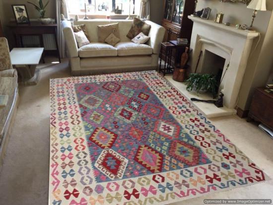 Tappeto Kilim Afgano 162 misura 240x188 cm