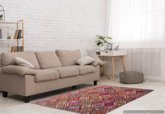 Tappeto Kilim Afgano 165 misura 238x181 cm