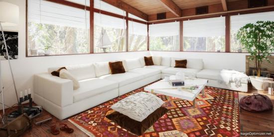 Tappeto Kilim Afgano 168 misura 248x176 cm
