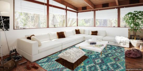 Tappeto Kilim Afgano 169 misura 233x186 cm