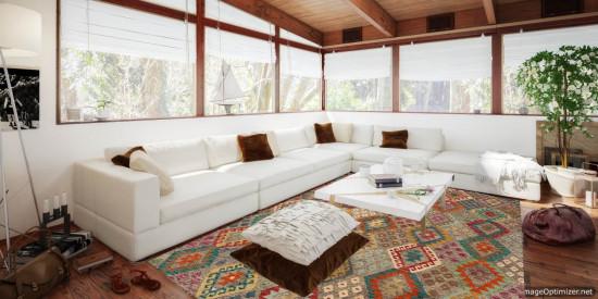 Tappeto Kilim Afgano 171 misura 220x186 cm