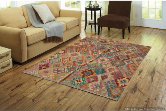 Tappeto Kilim Afgano 174 misura 237x177 cm