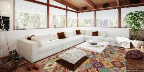 Tappeto Kilim Afgano 179 misura 276x207 cm