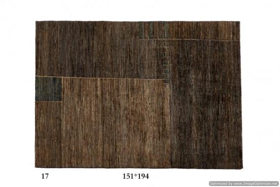 Tappeto Gabbeh Moderno Persia Annodato a mano-194x151 col.17