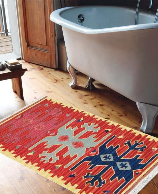 Tappeto Kilim per bagno 1834 65x110 cm