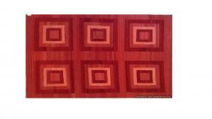 Tappeto Kilim SQRED fatto a mano, 128x185 cm