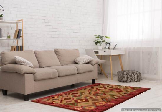 Tappeto Kilim Rettangolare 2-COLmisura 210x265 cm