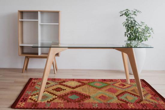 Tappeto Kilim Rettangolare 2-COL misura 95x155 cm