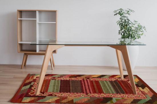 Tappeto Kilim Quadrato 3-COL misura 210x210 cm