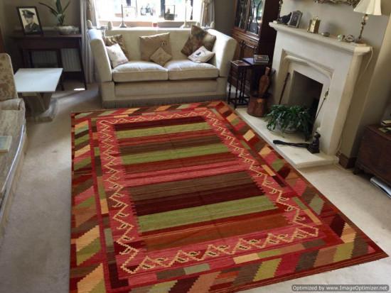 Tappeto Kilim Rettangolare 3-COL misura 320x400 cm