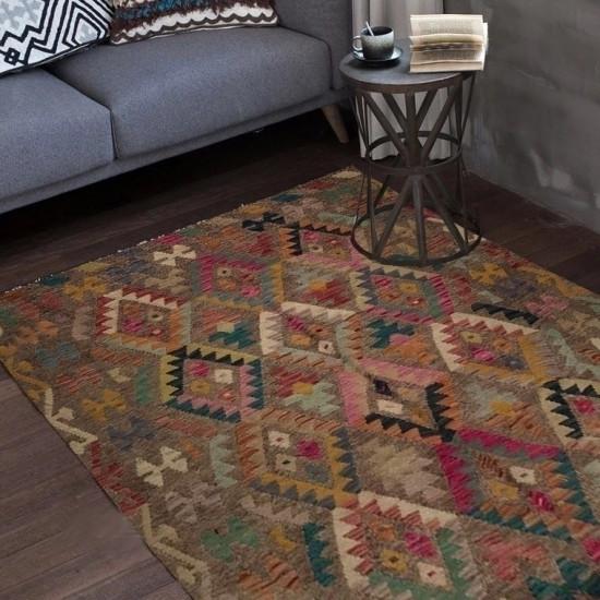 Tappeto Kilim Afgano 31 misura 197x154 cm