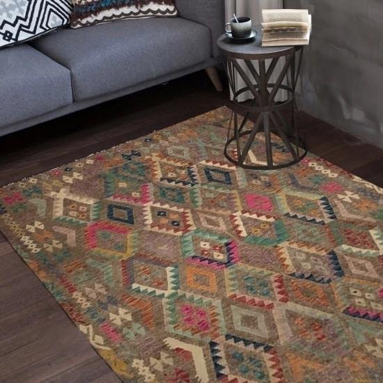 Tappeto Kilim Afgano 34 misura 247x210 cm