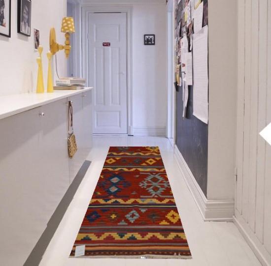 Tappeto Kilim fatto a mano passatoia cucina corridoio