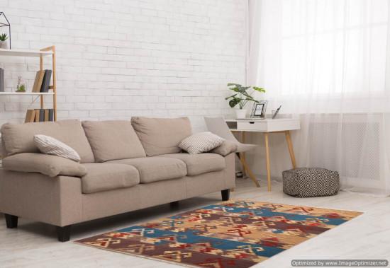 Tappeto Kilim Rettangolare 4-B misura 128x185 cm