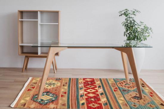 Tappeto Kilim 4046 fatto a mano, 95x155 cm