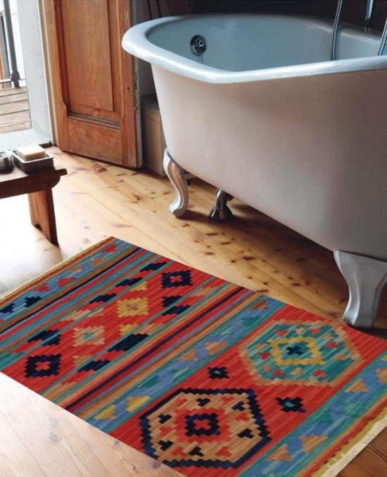 Tappeto Kilim 4048 per il bagno 65x110 cm