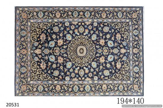 Tappeto Persiano Keshan Annodato a Mano - Dimensioni 140x194 cm